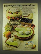 1977 Cool Whip and Jell-O Pudding Ad - Summer Fruits