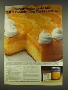 1977 Jell-O Pudding and Cling Peaches Ad - Cake