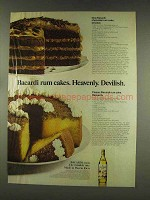 1977 Bacardi Rum Ad - Rum Cakes Heavenly Devilish