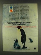 1977 Celanese Fortrel PolarGuard Ad - Keeps You Warm
