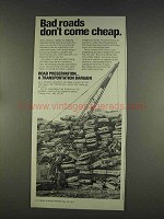 1977 The Asphalt Institute Ad - Bad Roads Cheap