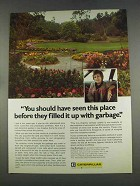 1977 Caterpillar Tractor Co. Ad - Filled With Garbage