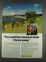 1977 Caterpillar Tractor Co. Ad - We Built This School