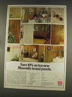 1977 Masonite Panels Ad - Save on Ten New Panels