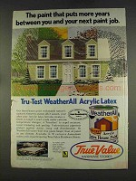 1977 True Value WeatherAll Acrylic Latex Paint Ad