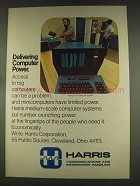 1977 Harris S-110 Computer System Ad - Delivering Power