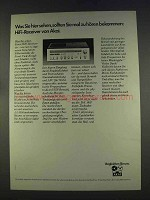 1977 Akai Receiver Ad - in German