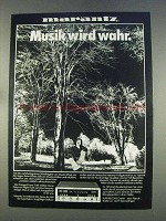 1977 Marantz Audio Equipment Ad - in German - Musik wird wahr