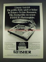 1977 Fisher MT6225 Turntable Ad - in German