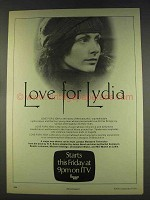 1977 London Weekend Television Ad - Love for Lydia