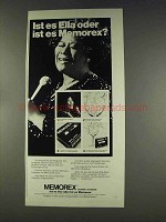 1977 Memorex Tape Ad - Ella Fitzgerald, in German