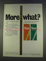 1977 More Cigarettes Ad - More What?