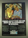 1977 GM Quality Service Parts Ad - Keeps in Business