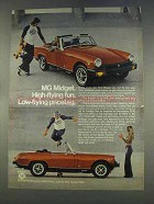 1977 MG Midget Ad - High-Flying Fun
