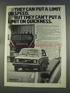 1977 Volvo 240 Car Ad - Can't Put Limit on Quickness