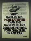 1977 Volvo Car Ad - Owners Are More Satisfied