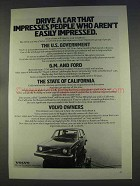 1977 Volvo 240 Series Car Ad - Impresses People