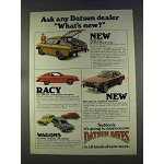 1977 Datsun B-210 Plus, 200-SX, 801 and Wagons Ad