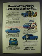 1977 Leyland Maxi Ad - Become a Five Car Family