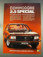 1977 Opel Commodore 2.5 Special Car Ad - in German