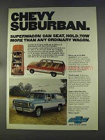 1977 Chevy Suburban Ad - Superwagon Can Seat More