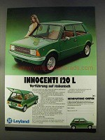 1977 Leyland Innocenti Mini 120L Car Ad - in German