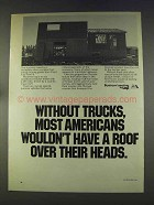 1977 ATA American Trucking Association Ad - Have a Roof