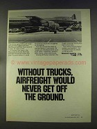 1977 ATA American Trucking Association Ad - Airfreight