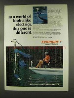 1977 Evinrude Electric Outboard Motor Ad - Look-Alike