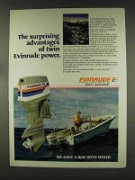 1977 Evinrude 70 Outboord Motor Ad - Advantages