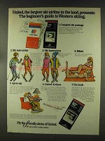 1977 United Airlines Ad - Guide to Western Skiing