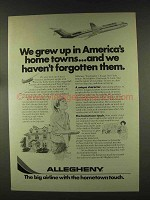 1977 Allegheny Airline Ad - America's Home Towns