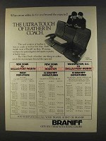 1977 Braniff Airline Ad - Ultra Touch of Leather