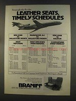 1977 Braniff Airline Ad - Leather Seats