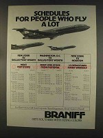 1977 Braniff Airline Ad - People Who Fly A Lot