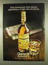 1977 Old Charter Bourbon Ad - High Rate of Return