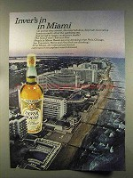 1977 Inver House Scotch Ad - In in Miami