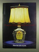 1977 Seagram's Crown Royal Ad - How the Rich Recycle