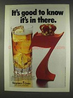 1977 Seagram's 7 Crown Whisky Ad - It's Good to Know