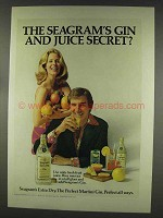 1977 Seagram's Extra Dry Gin Ad - Gin and Juice