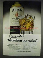1977 Jameson Irish Whiskey Ad - On The Rocks