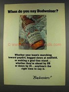 1977 Budweiser Beer Ad - When Do You Say