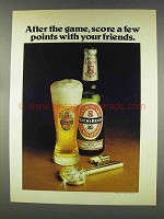 1977 Beck's Beer Ad - After the Game, Score Points