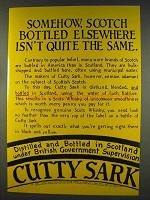 1977 Cutty Sark Scotch Ad - Elsewhere Isn't Same