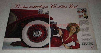 1977 Revlon Cadillac Red Makeup Ad