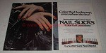 1977 Cover Girl Nail Slicks Ad - Looks Wet When Dry