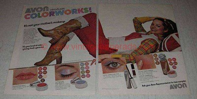 1977 Avon Colorworks Makeup Ad