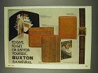 1977 Buxton Wallet Ad - Patrician, Mark IV, Tahoe