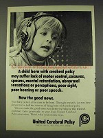 1977 United Cerebral Palsy Ad - May Suffer