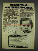1977 Christian Children's Fund Ad - Give Yourself